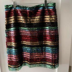 Anthropologie NWT sequin mini skirt- 12